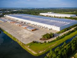 Exterior of GE Appliances Smart Distribution Center Docks in Jacksonville, FL
