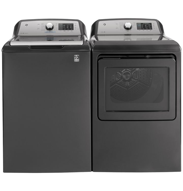 GE 4.8 cu. ft. Capacity Washer with Tide PODS Dispense Washer and Dryer