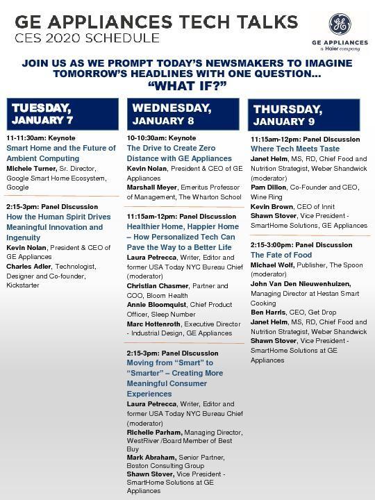 GEA CES - Tech Talks Lineup