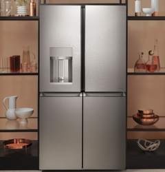 CAFÉ Quad-Door Refrigerator in Modern Glass, to be Manufactured at GE Appliance Park as Part of Multi-Million Investment, Creating 260 New Jobs