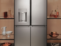 CAFE Quad-Door Refrigerator in Modern Glass