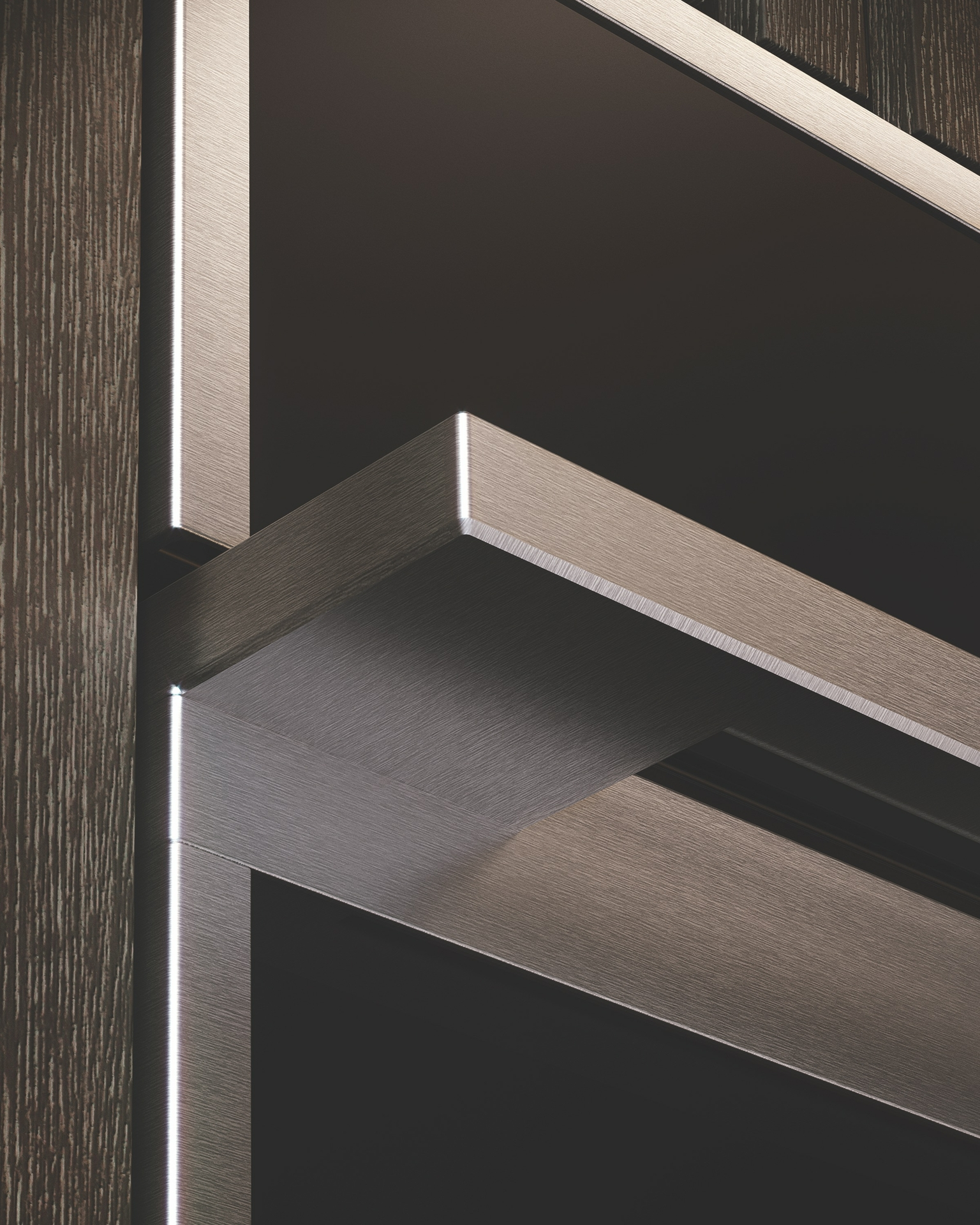 Monogram Minimalist Wall Oven Handle Detail