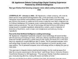 GE Appliances Next Gen Kitchen Hub Micro Press Release FINAL