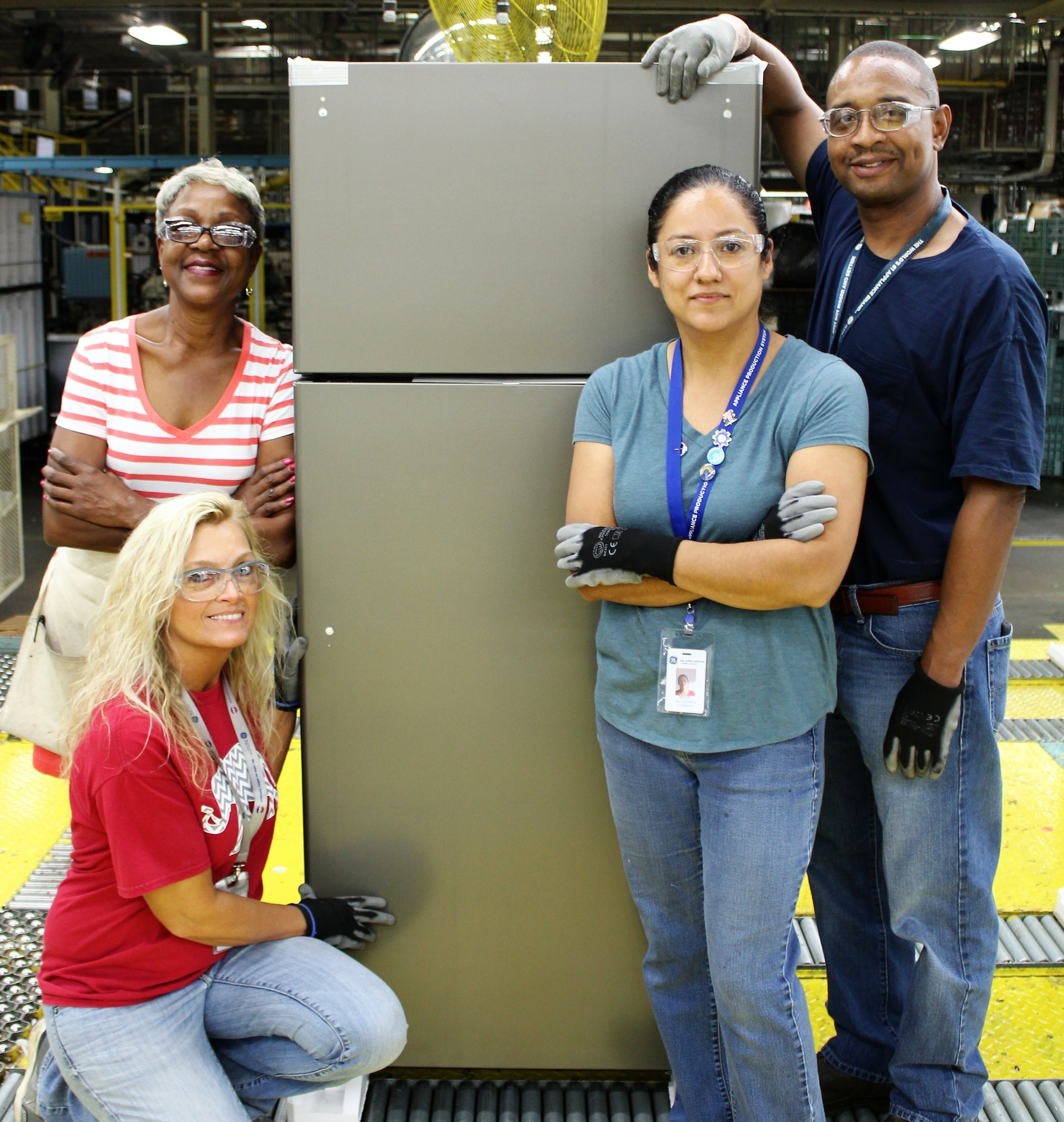 Decatur Employees with Refrigerator