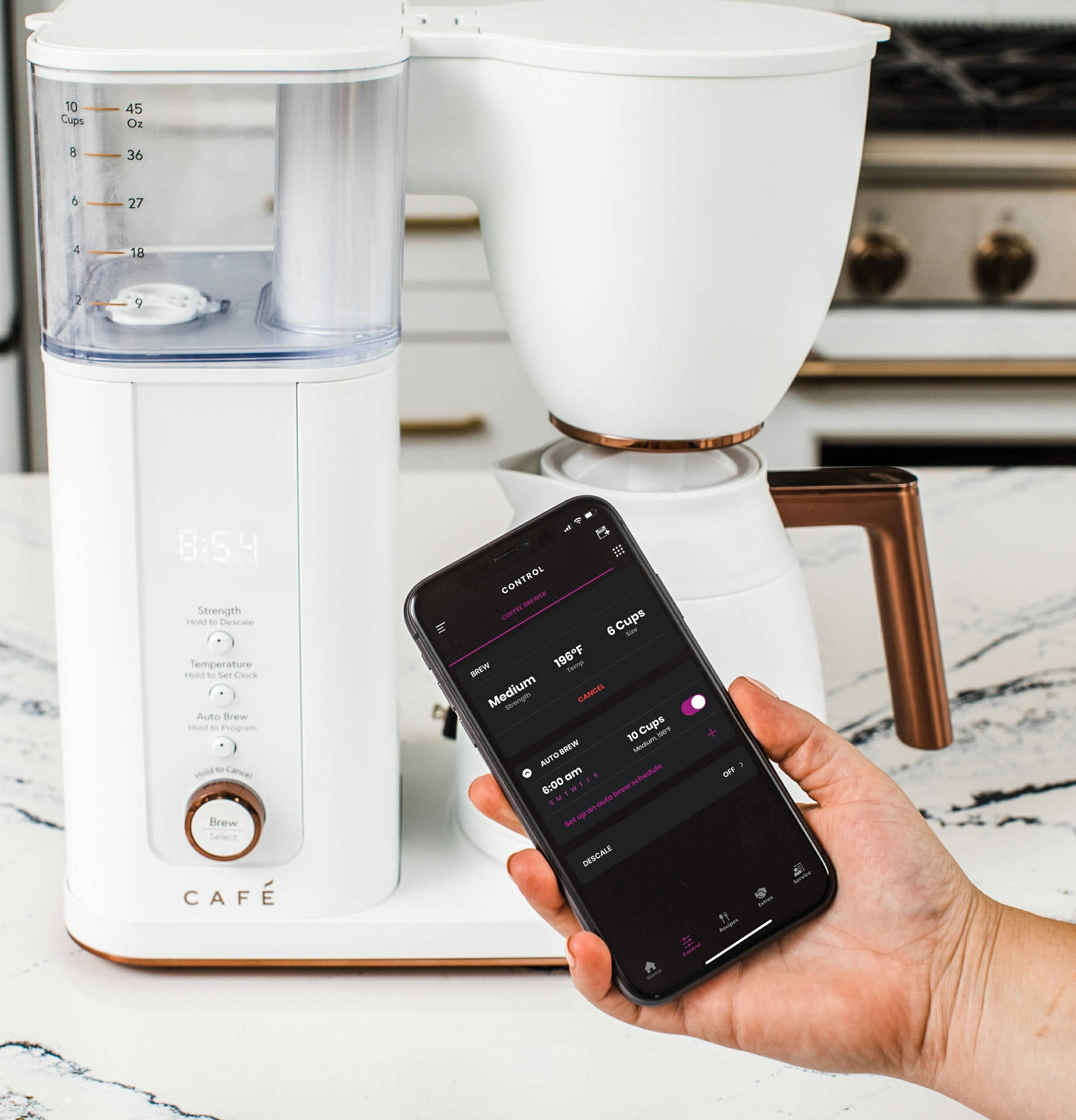 The CAFÉ™ Specialty Drip Coffee Maker Offers Built-In WiFi and a Range of Smart, User-Friendly Features