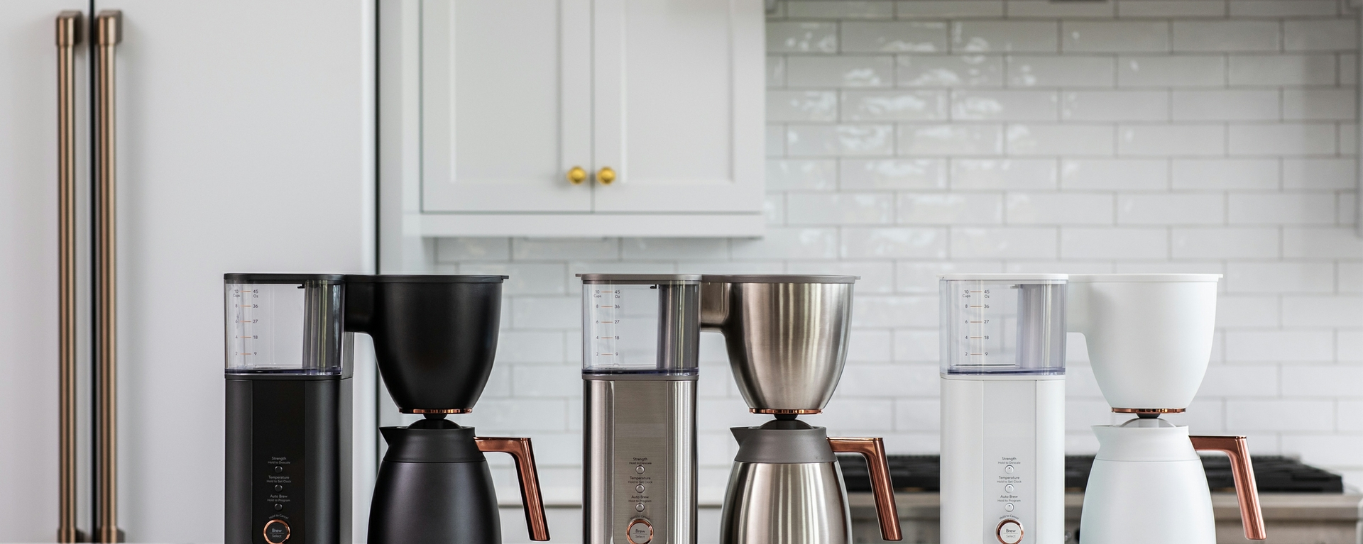 Line-Up of New, CAFÉ™ Specialty Drip Coffee Maker in Three Finishes