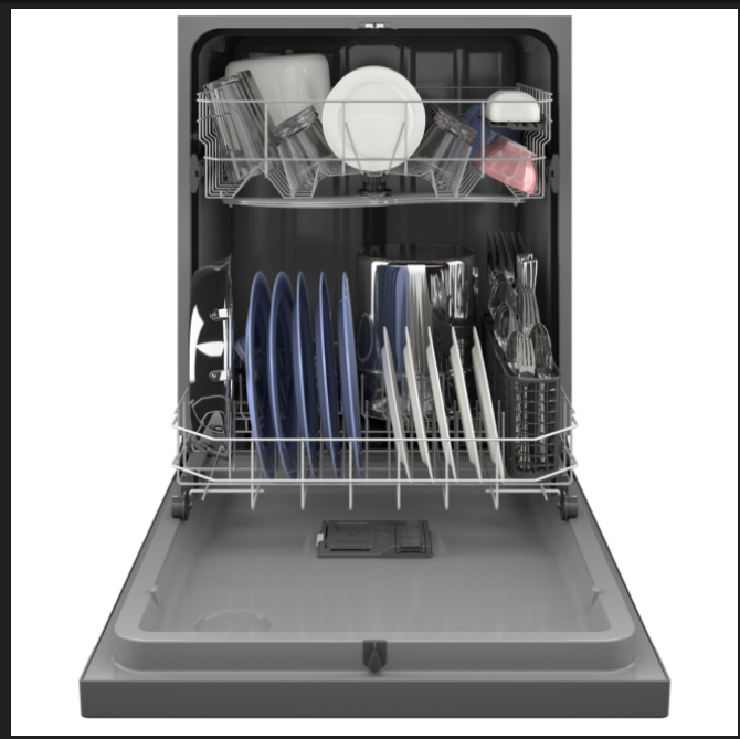 The new dishwasher, model GDF535, has great wash performance and its full loading capacity means flexibility for all types of cookware and dishes.
