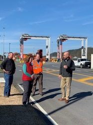 GEA Chief Operating Officer Melanie Cook tours Appalachian Regional Port
