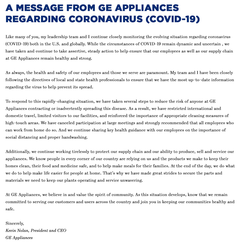 GEAppliances-Coronavirus-Response