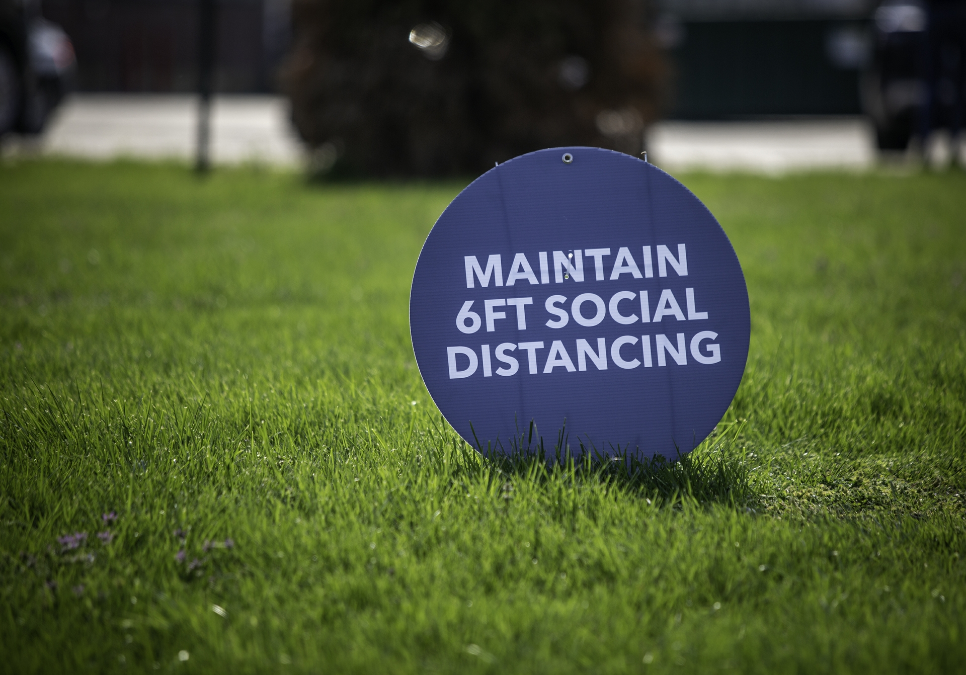 Social Distancing Reminder at a GEA Plant