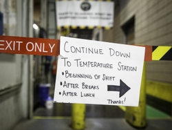 Temperature Screening Guidance at a GEA Plant