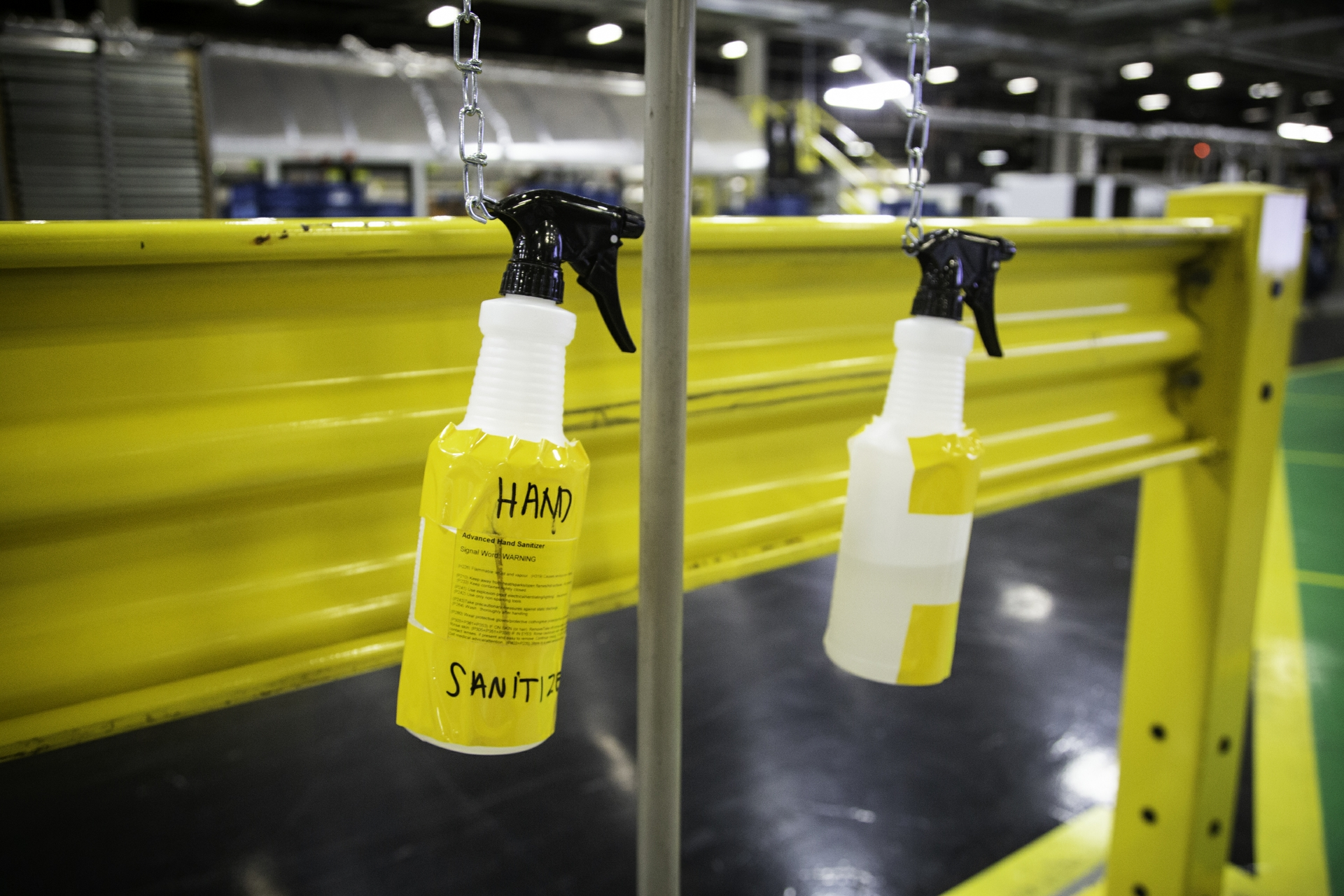 Hand Sanitizer Spray at a GEA Plant