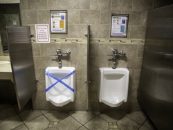 Closed Urinals to Maintain Social Distance at a GEA Plant