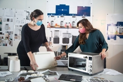 Industrial Designers Lauren Platts and Emily Wise in Louisville, Ky. Use 3D Printed Models to Create Design Details of Small Appliance Products