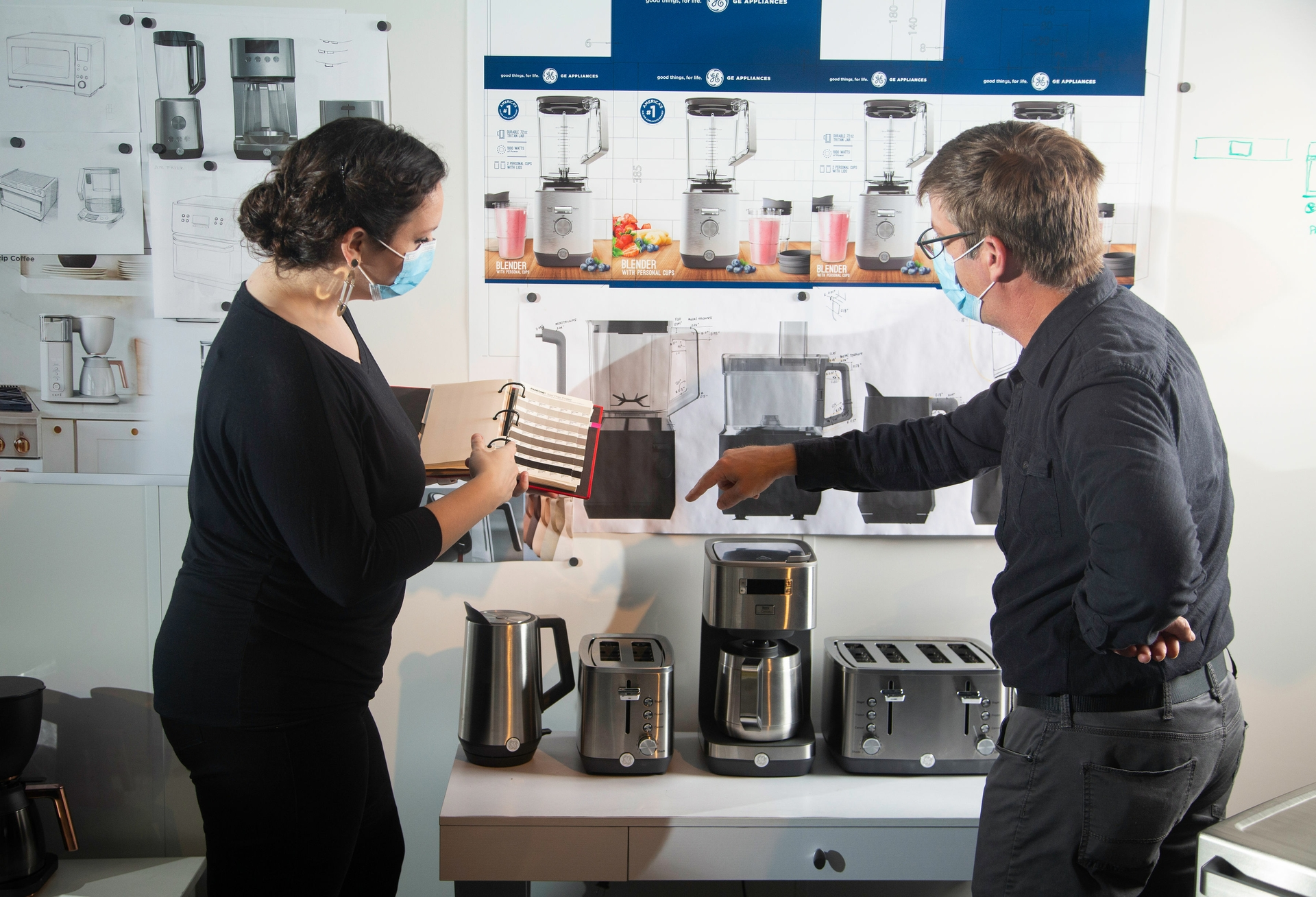 Paul Haney Works with His Industrial Design Team to Hone Sleek Designs of New GE Appliance Products from the Small Appliance Division