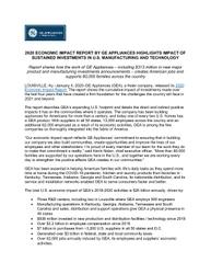 GEA Releases 2020 Economic Impact Report press release