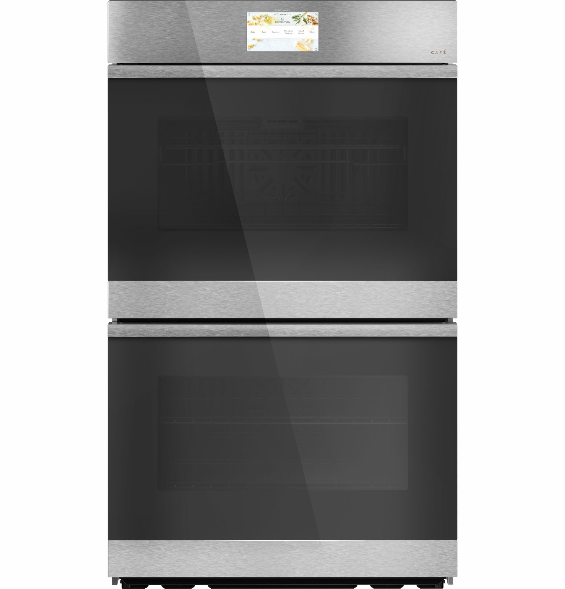 """CAFÉ 30"""" Smart Built-In Convection Double Wall Oven in Modern Glass"""