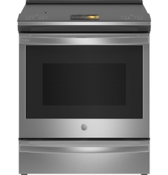 GE Profile Smart Slide-In Front Control Induction Range with Airfry and In-Oven CookCam