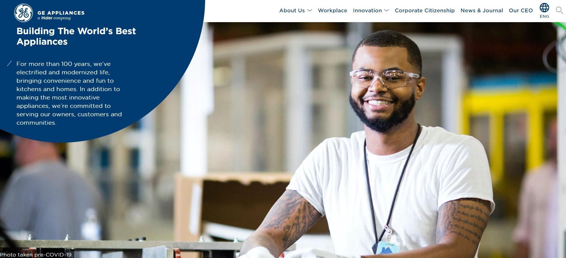 GEA Appliances Corporate Website Hompage