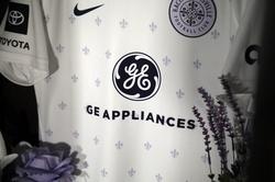 Close-Up of Racing Louisville FC Away Kit with GEA Logo