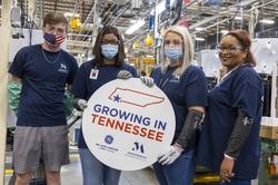 Monogram employees Nick Mathis, Patricia Davis, Savannah Jones and Shelly Wynn celebrate the GE Zoneline® Ultimate V10™ investment