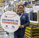 Monogram employee Shelly Wynn celebrates the GE Zoneline® Ultimate V10™ investment