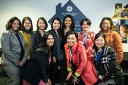 A group of GE Appliances' employees celebrates International Women's Day. The Company was recently named one of the 2021 Best Companies for Multicultural Women by Seramount.