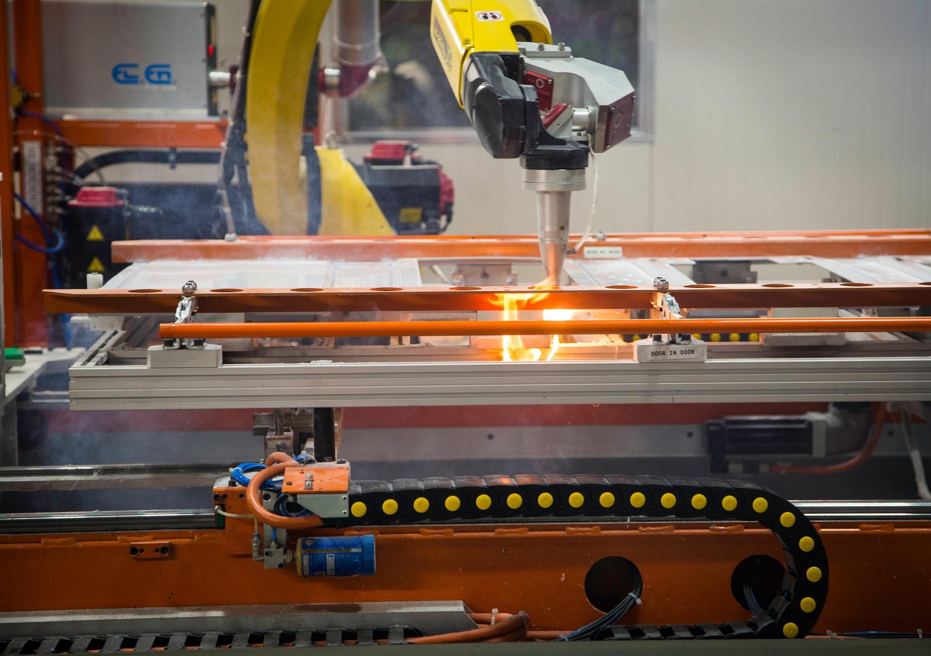 Laser pierce robots cutting holes