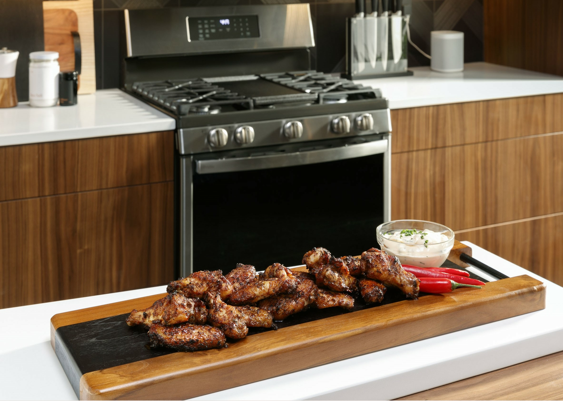 In April GE Appliances engineers successfully pushed an over-the-air software update for No-Preheat Air Fry technology to previously sold ovens and ranges with WiFi capabilities. As a result a w