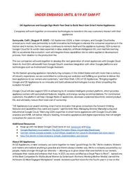 GE Appliances Google Cloud Press Release