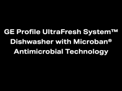 The UltraFresh System™ Dishwasher with Microban® Antimicrobial Technology relies on a three-pronged system of Drain, Dry and Defend.