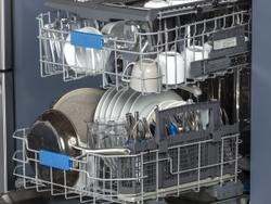 Inside of the GE Profile UltraFresh System™ Dishwasher with Microban® Antimicrobial Technology