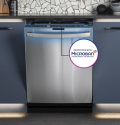 GE Appliances is the exclusive dishwasher partner of Microban® International, the global leader in antimicrobial additives and odor control solutions.