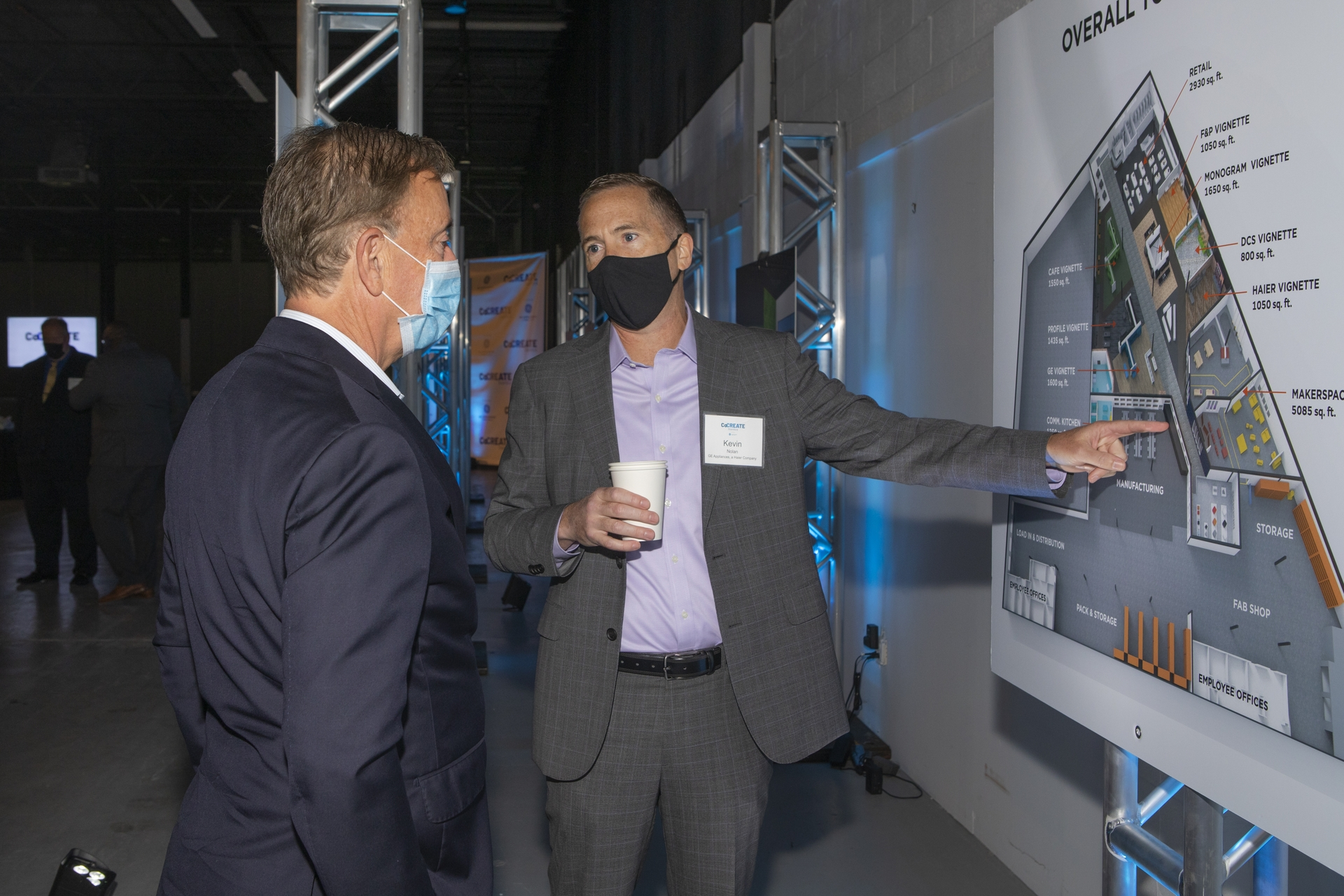 GEA CEO Kevin Nolan shows rendering to CT Governor Lamont