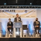 GEA CEO Kevin Nolan speaks from podium 2