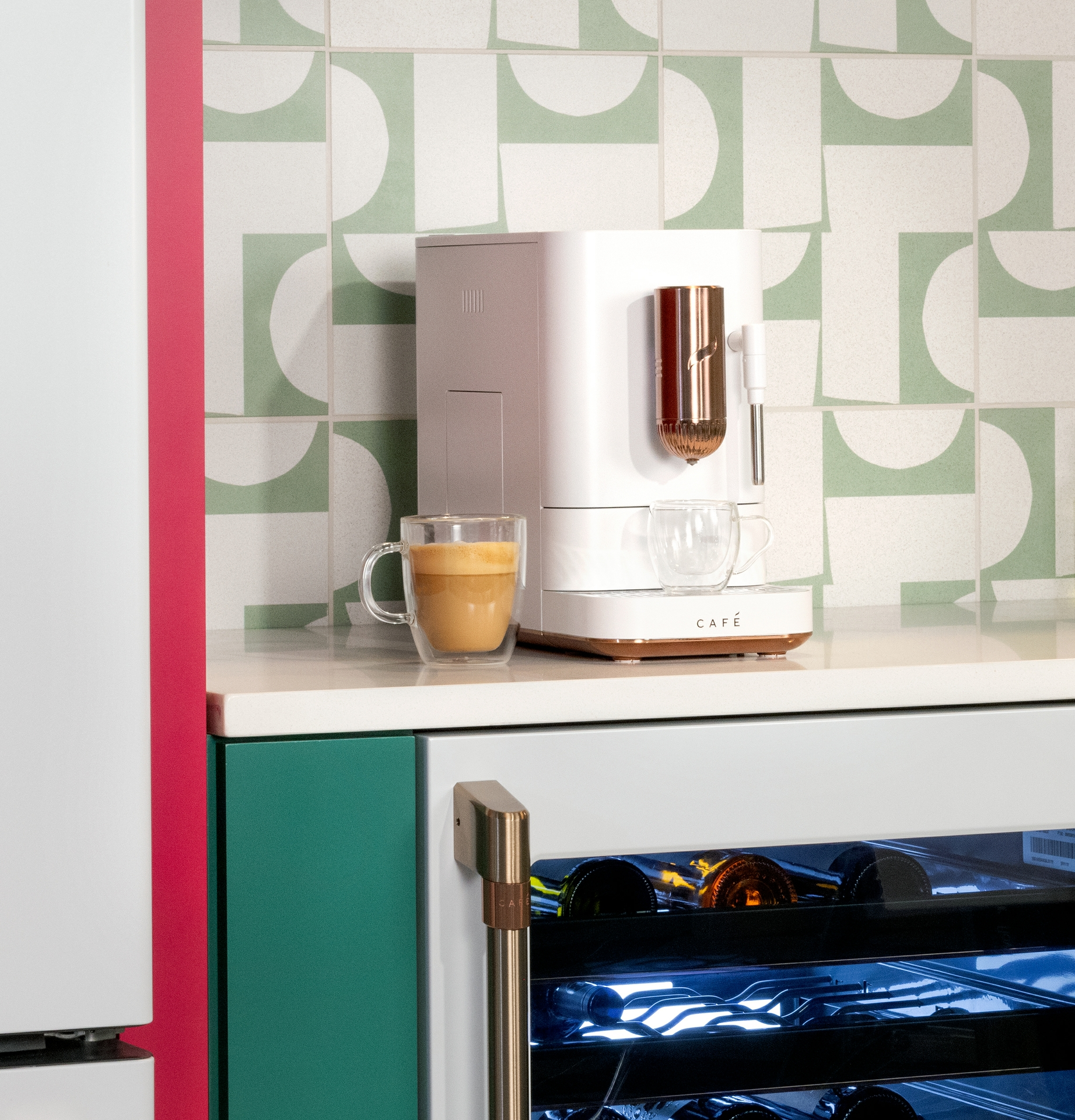 CAFÉ AFFETTO Espresso Machine in Matte White