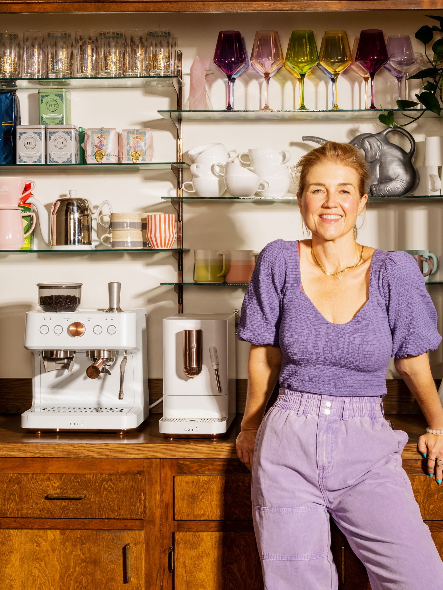 Jeni Britton, Founder and Chief Creative Officer of Jeni's Splendid Ice Cream, with Her At-Home Coffee Bar with new CAFÉ Espresso Makers