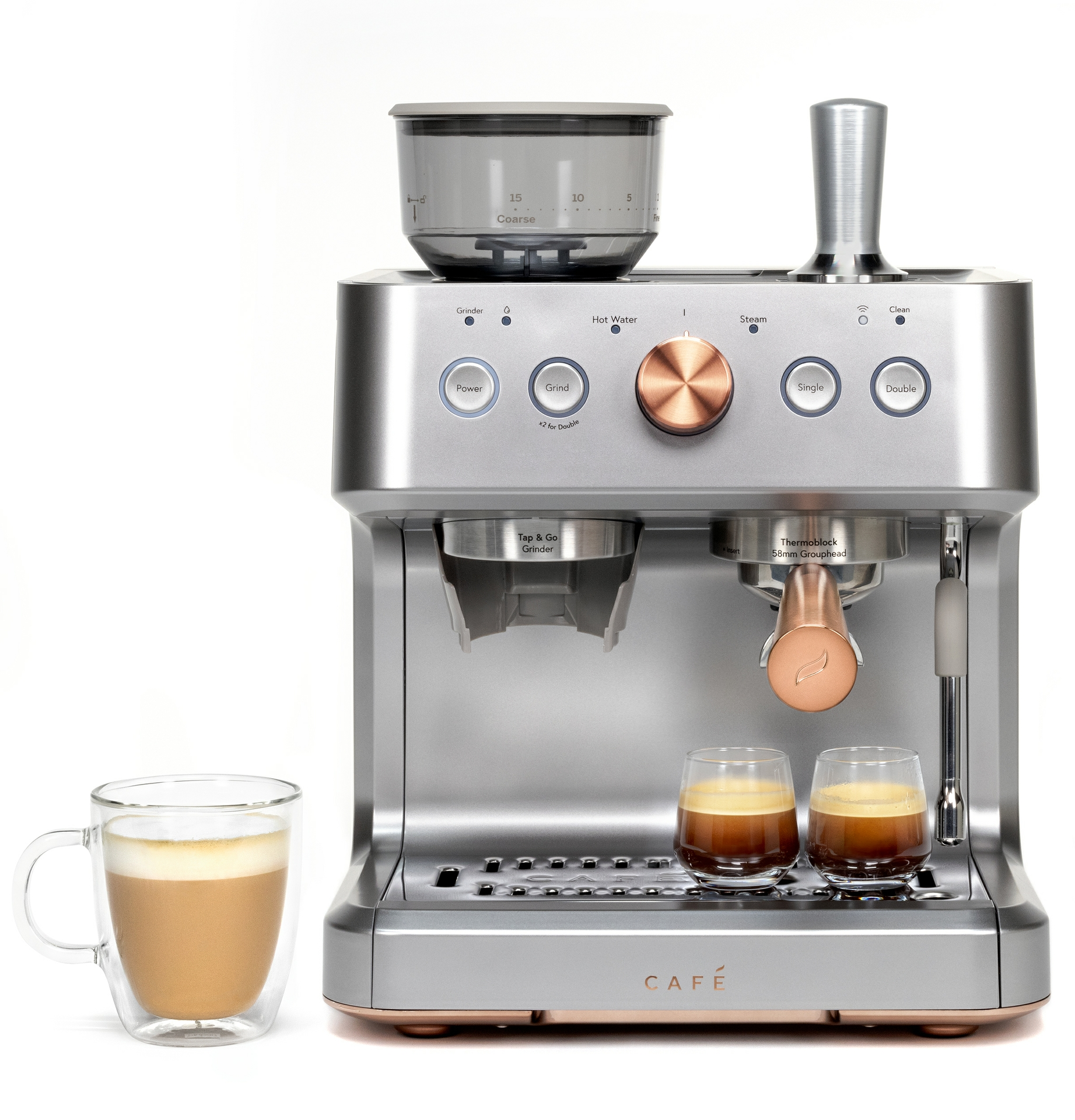 CAFÉ BELLISSIMO Espresso Maker in Steel Silver