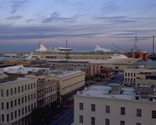 Cruise Ship Departs Harbor