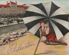 Hotel Galvez Postcard from Forshey Collection