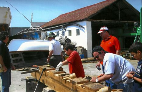 Volunteers working on Galveztown project