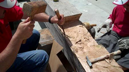 volunteers work on galveztown project at astilleros nereo in spain