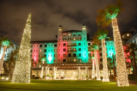 Hotel Galvez Lit for the Holidays