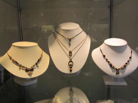 Jewelry on Display at The Jewel Garden