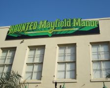 Haunted Mayfield Manor Sign