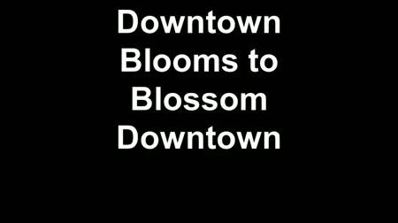 downtown blooms to blossom downtown