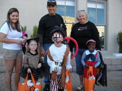 Winners of the costume contest for ages 2-4