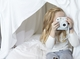 Blanket Fort and Instax Camera