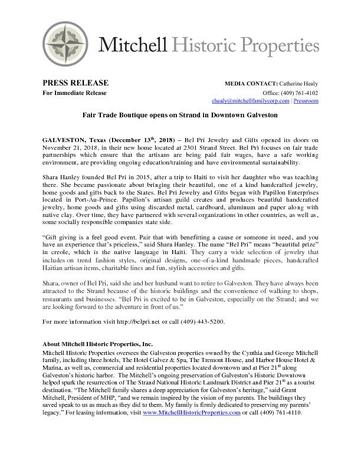 Bel Pri Press Release 12-10-18