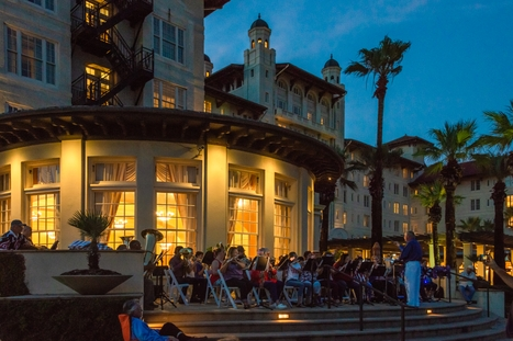 Galveston Community Band Performs at Hotel Galvez